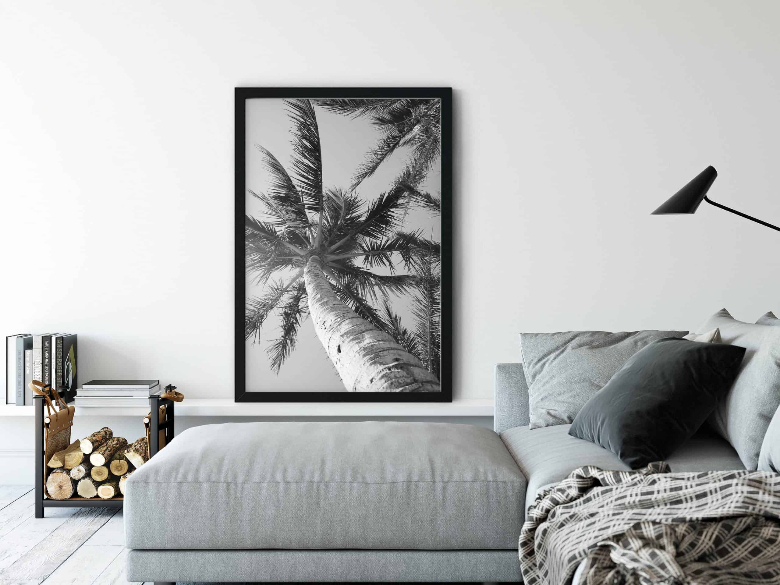 Black and white unique Wall Art Print living room