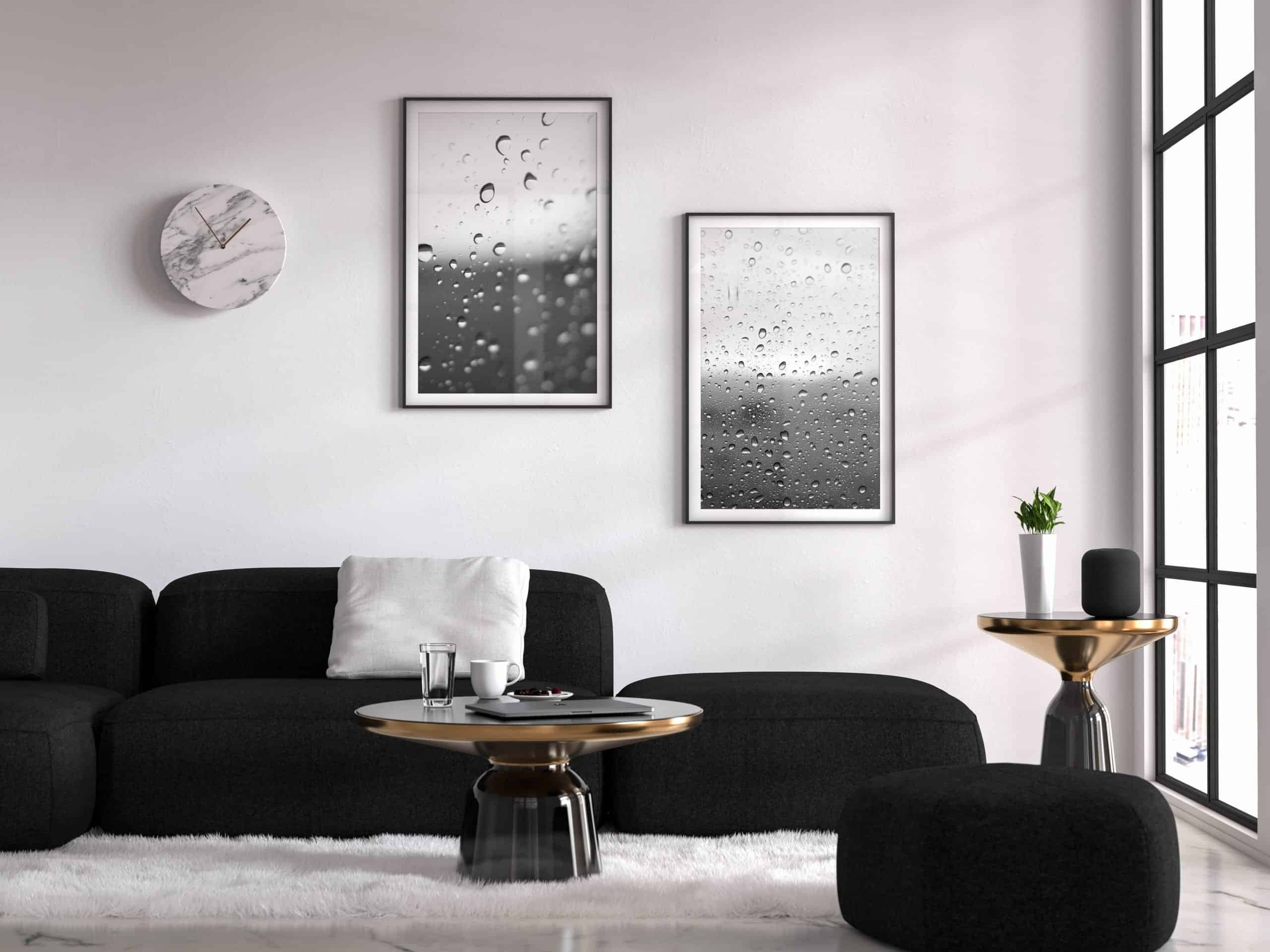 diptych Drops unique Wall Art Print living room