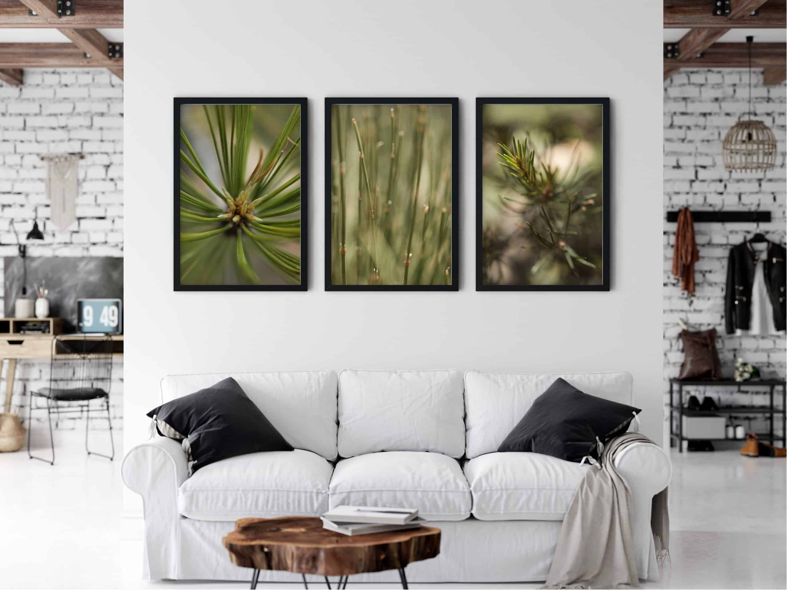 Triptych Outdoor Nature unique Wall Art Print living room